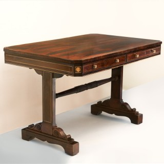 GEORGE IV ROSEWOOD LIBRARY TABLE Circa 1825