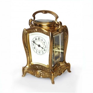 Art Nouveau Strike repeat Carriage Clock
