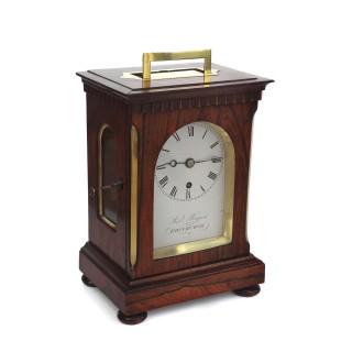 Georgian rosewood fusee timepiece