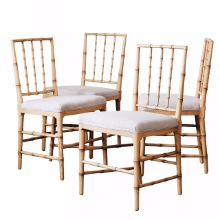 Set of Four Swedish 19th Century Gustavian Dinning Chairs