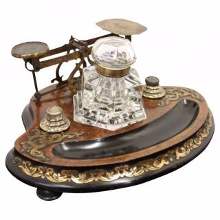 Victorian Inkwell Deskset