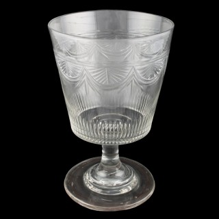 Large Georgian Glass Rummer