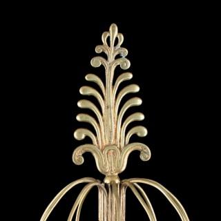 Regency Gilt Metal Candelabra & Candlesticks
