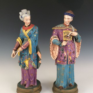 LARGE CHINOISERIE FIGURES