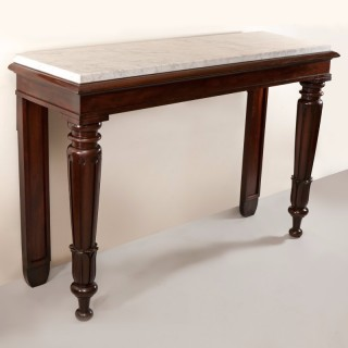 WILLIAM IV MAHOGANY CONSOLE OR SERVING TABLE Circa 1830