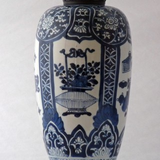Kangxi -Chinese 18th Century - Blue and White Vase