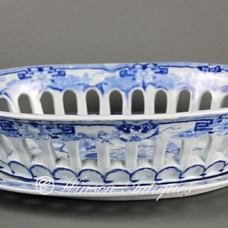 Mason's Ironstone China chestnut basket