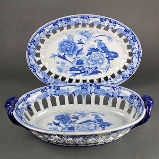 Mason's Ironstone China chestnut basket