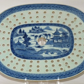 Chinese 18th century Oval Drainer