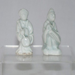 Japanese Arita Pair of Figures