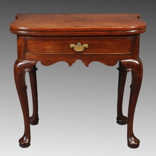 A George II Red Walnut Tea Table
