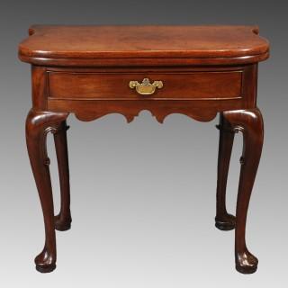 A George II Red Walnut Tea Table