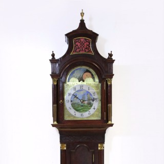 Edwardian Mahogany Musical Longcase Clock