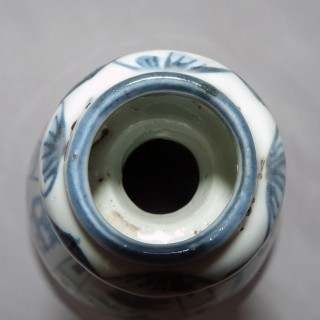 Kraak Ming Blue and White Bottle Vase