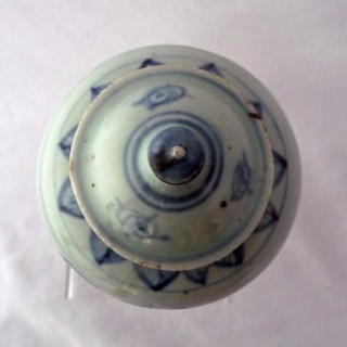Early Ming Blue and White Lidded Jar
