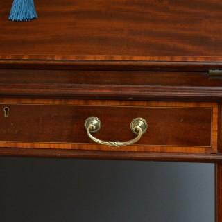Elegant Mahogany Bureau by Maple & Co
