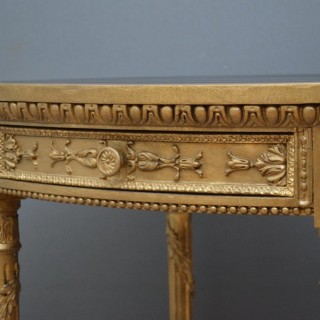 Unusual Gilded Side Table – Writing Table