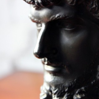 A Good Late 19thC Bronze Portrait Bust of Lucius Verus