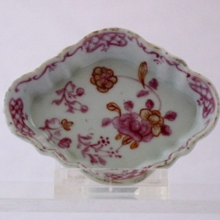Qianlong Miniature / Toy Lozenge Shaped Spoon Tray