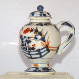 Kangxi Chinese Imari lidded mustard pot