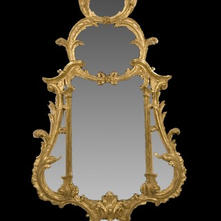A George II Carved and Giltwood Mirror