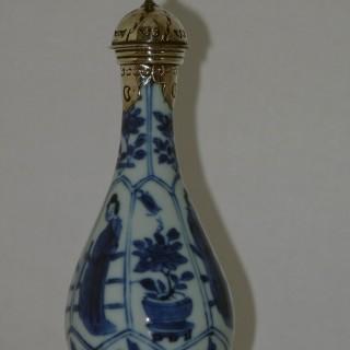 kangxi Blue and White Pear Shaped Bottle Vase