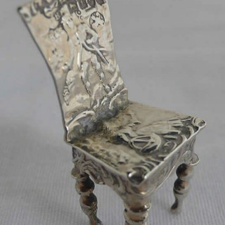 Miniature Continental Silver Chair