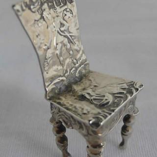 Miniature Continental Silver Chair