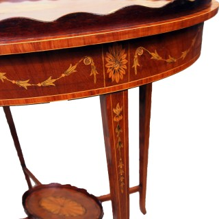Antique Mahogany Tray Top Occasional Table