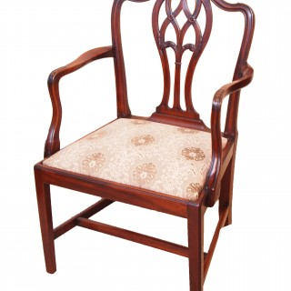 Antique Hepplewhite Period  Mahogany Armchair