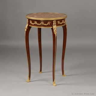 Gilt-Bronze Mounted Mahogany Occasional Table