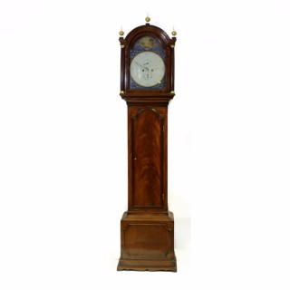 Georgian Mahogany Longcase Clock with Regulator Dial