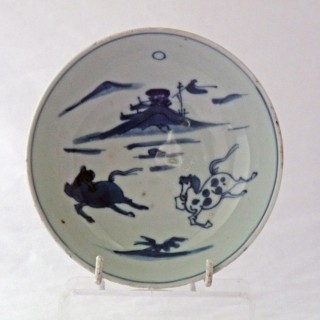 Ming Blue and White Ko-sometsuke plate