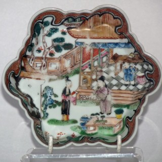 Yongzheng Famille rose shaped tea pot stand
