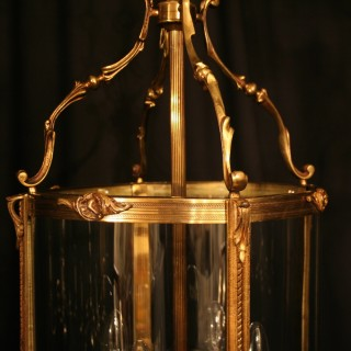A Large Pair Of French Bronze Antique Lanterns