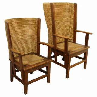 Pair of Ladies and Gents Orkney Chairs