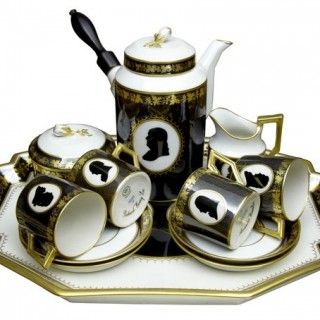 THE COLONIAL COFFEE SERVICE BY ROYAL COPENHAGEN PORCELAIN