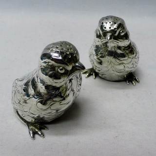 Pair of Novelty Silver Chick Peppers