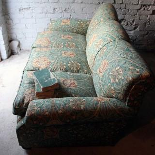 A Beautiful Liberty Fabric Upholstered Edwardian Period Three-Seater Sofa c.1910
