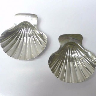 George III Silver Butter Shells by Robert Garrard