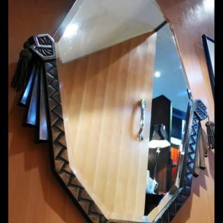 Rare Art Deco Period Silvered Bronze Mirror