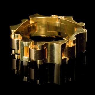 Modernist gold bracelet