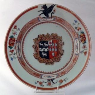 Kangxi Armorial Rouge de Fur Plate