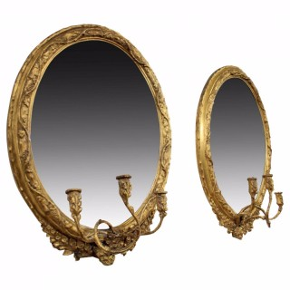 Pair of George III Gilt Mirrors/Girandole