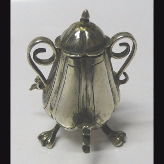 Dutch Miniature Silver Samovar