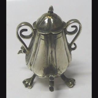 Dutch Miniature Silver Samovar