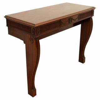 Adams Style Mahogany Console Table