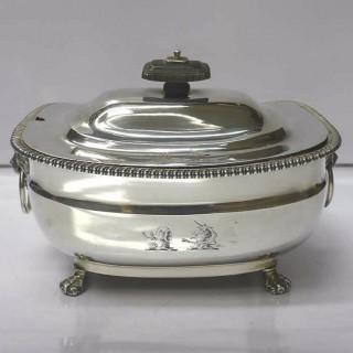 George III Silver Sauce Tureen