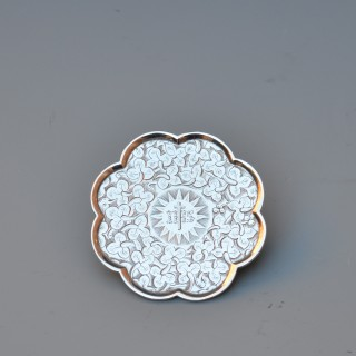 EARLY VICTORIAN SILVER PATEN OR COMMUNION WAFER TRAY
