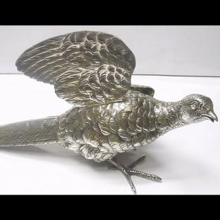 Antique Silver Table Bird